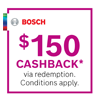 Bosch 150 Cashback Mar-Apr 20