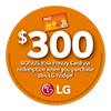 LG Fridge Prezzy Card 300 Jul-Aug 20