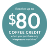 Nespresso Coffee Credit 80 Aug-Sept 20