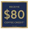 Nespresso Coffee Credit 80 Oct 20 - Jan 21