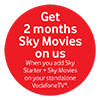 Vodafone 2 Months Sky Movies Nov 20-Jan 21
