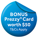 Haier $50 Prezzy Card Apr-Jun 21