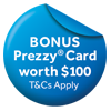Haier $100 Prezzy Card Apr-Jun 21