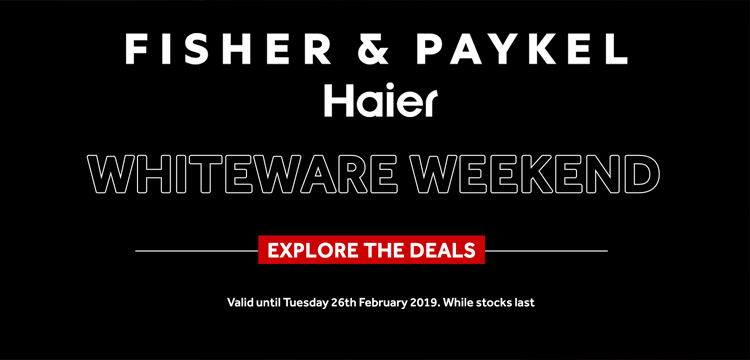 1OOpc Fisher Paykel Haier Whiteware Weekend February 2019