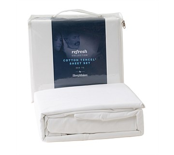 SleepMaker Refresh Cotton Sheet Set King Single