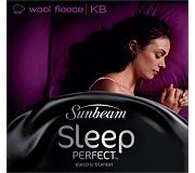 Sunbeam Sleep Perfect Wool Fleece King Electric Blanket